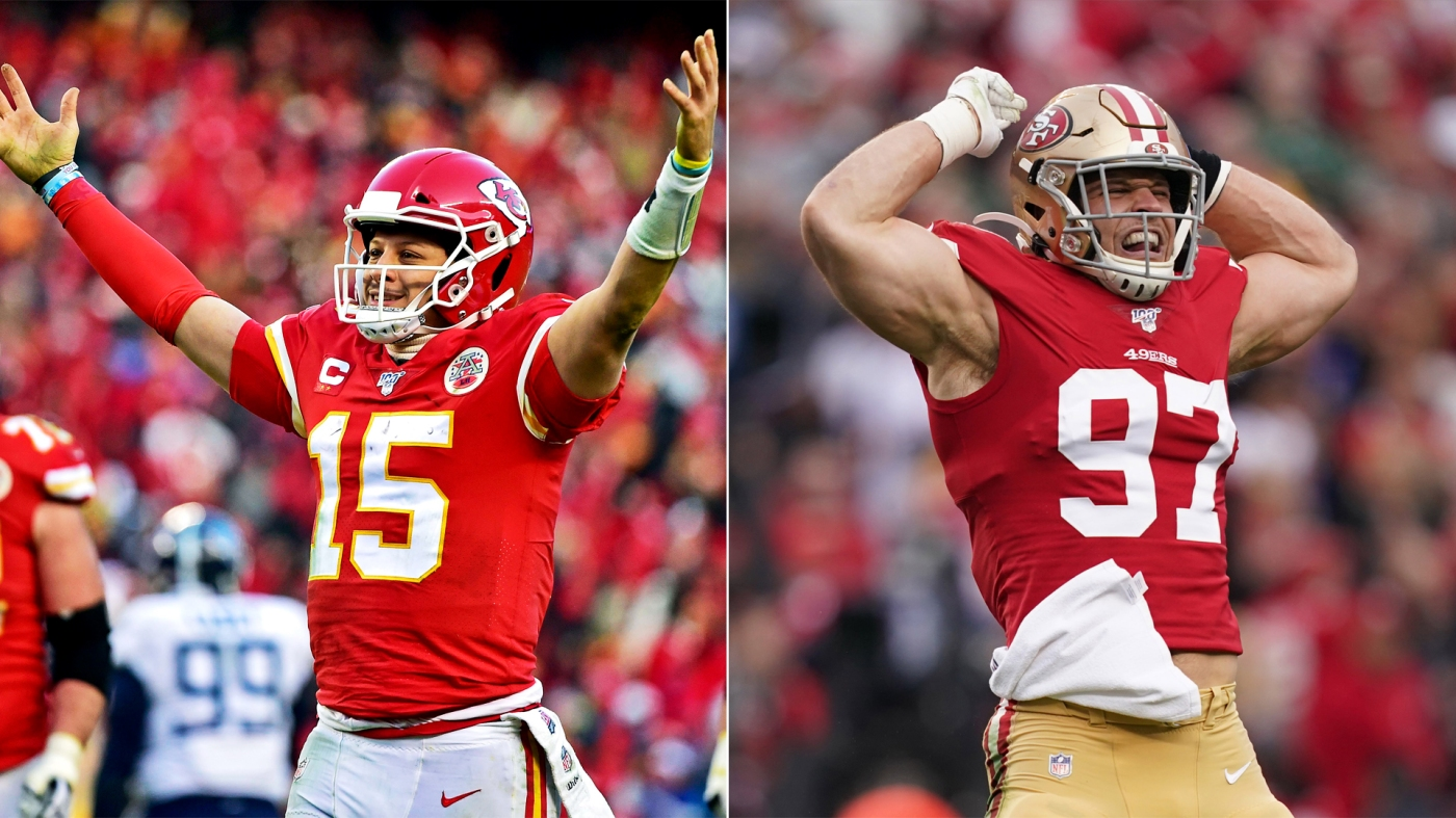 Patrick Mahomes Kansas City Chiefs Nick Bosa San Francisco 49ers