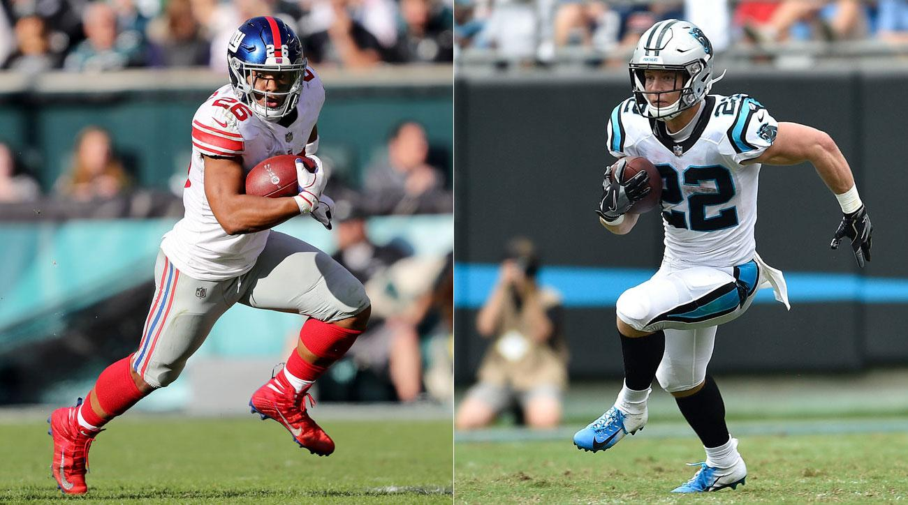 Saquon Barkley and Christian McCaffrey 2020 NFL Fantasy Football Rankings