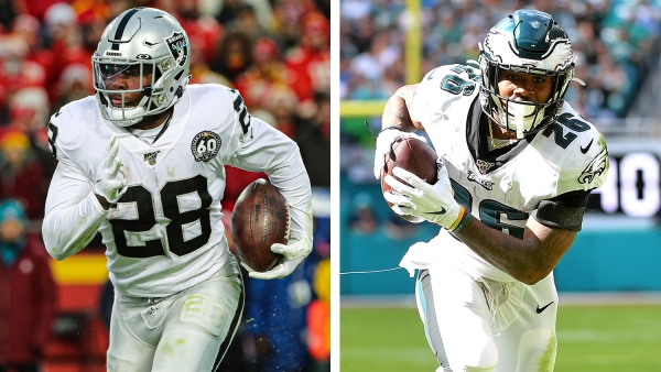 Josh Jacobs and Miles Sanders lead the way as top second-year running backs in fantasy football