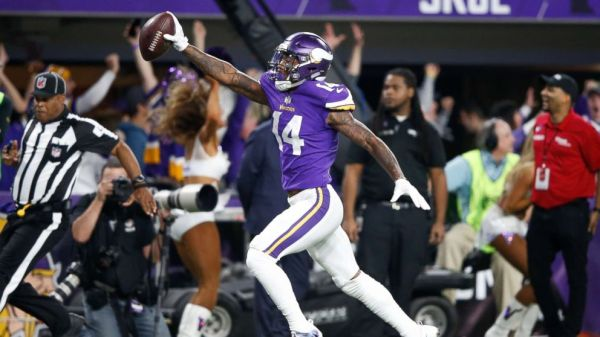Stefon Diggs scores a touchdown in what will forever be known as the Minneapolis Miracle