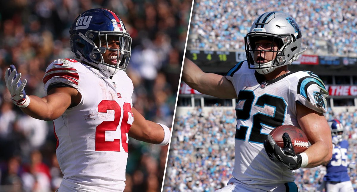 Saquon Barkley and Christian McCaffrey are the consensus top-two RB's in fantasy football