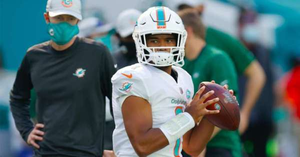 Tua Tagovailoa is set to make his NFL debut for the Dolphins this Sunday