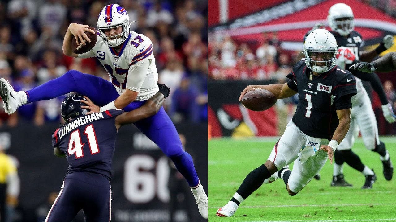 Josh Allen and Kyler Murray are set to square off this weekend