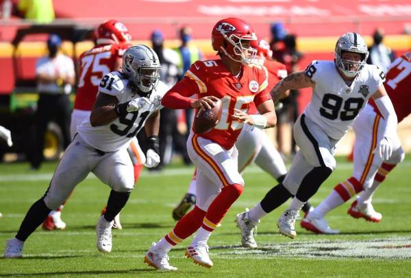 Chiefs look to avenge their only loss of the season Sunday against the Raiders