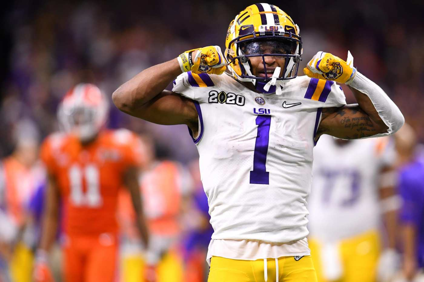 Despite opting out of the 2020 college football season, Ja'Marr Chase is expected to be one of the first wide receivers off the board in the 2021 NFL Draft