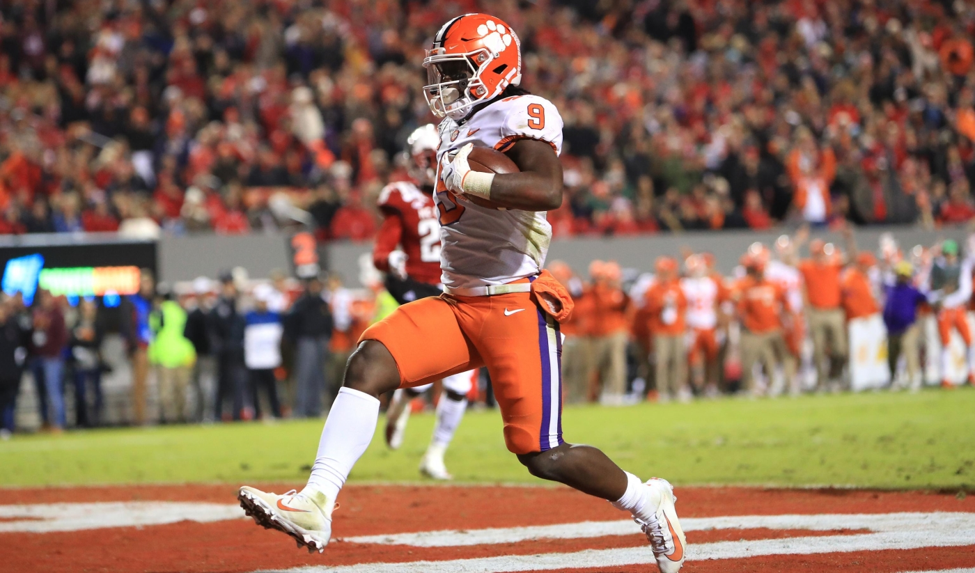 Travis Etienne figures to be one of the top RB's selected in the 2021 NFL Draft