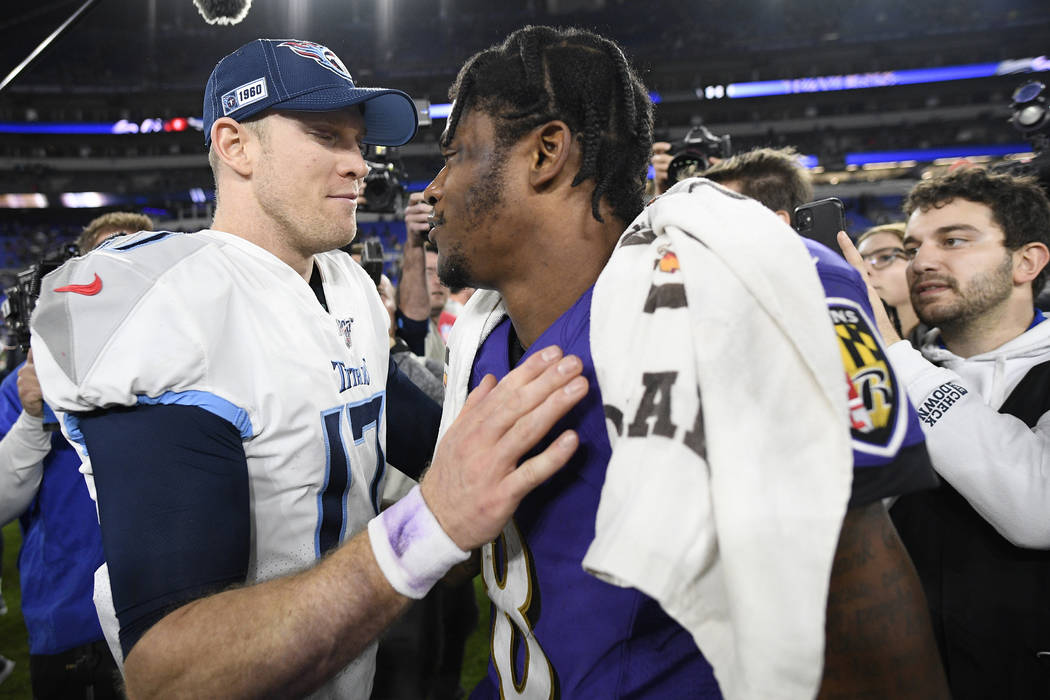 Ryan Tannehill and Lamar Jackson will meet in the playoffs for the second time in as many years