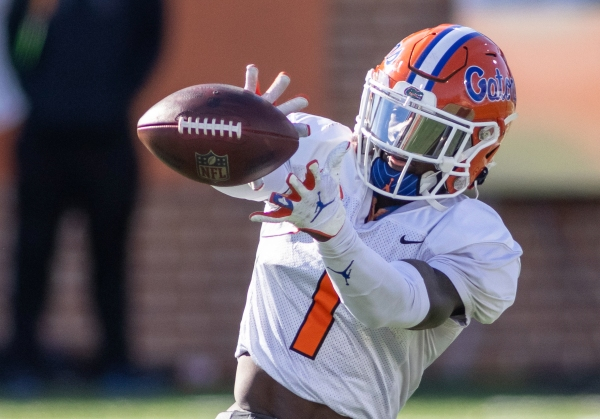 Gators wide receiver Kadarius Toney recently competed in the 2021 Senior Bowl