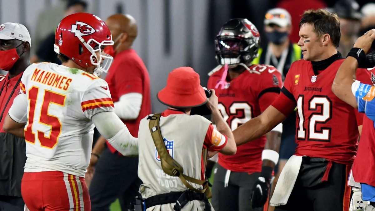 Tom Brady and Patrick Mahomes square off in Super Bowl 55 this Sunday