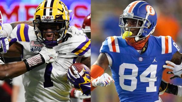 The Dolphins may likely have the choice between Ja'Marr Chase and Kyle Pitts with the sixth-overall selection in the 2021 NFL Draft