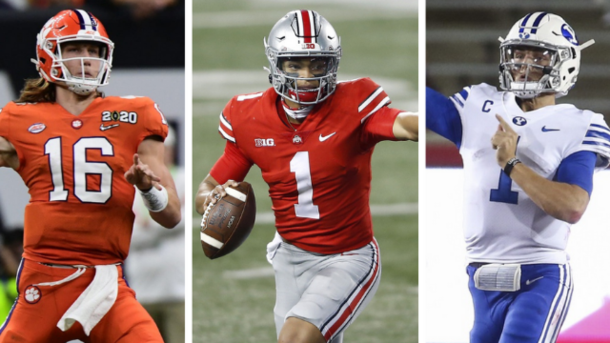 Trevor Lawrence, Justin Fields and Zach Wilson all project as top-10 picks in the 2021 NFL Draft