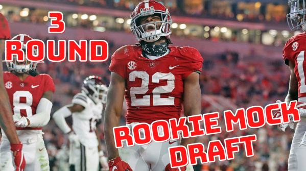 Najee Harris is expected to be the first player off the board in dynasty fantasy football rookie drafts