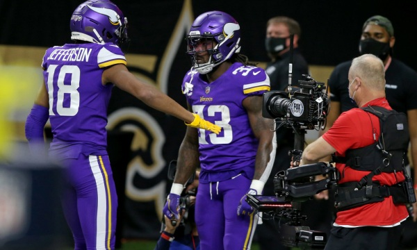 Justin Jefferson and Dalvin Cook both project to finish near the top of the position in fantasy football this season
